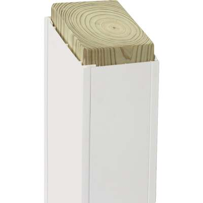 Beechdale 4 In. W. x 4 In. H. x 120 In. L. White PVC Smooth Post Wrap