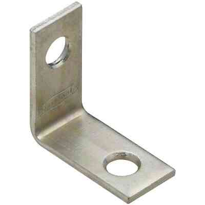 National Catalog V115 1 In. x 1/2 In. Zinc Steel Corner Brace (4-Count)