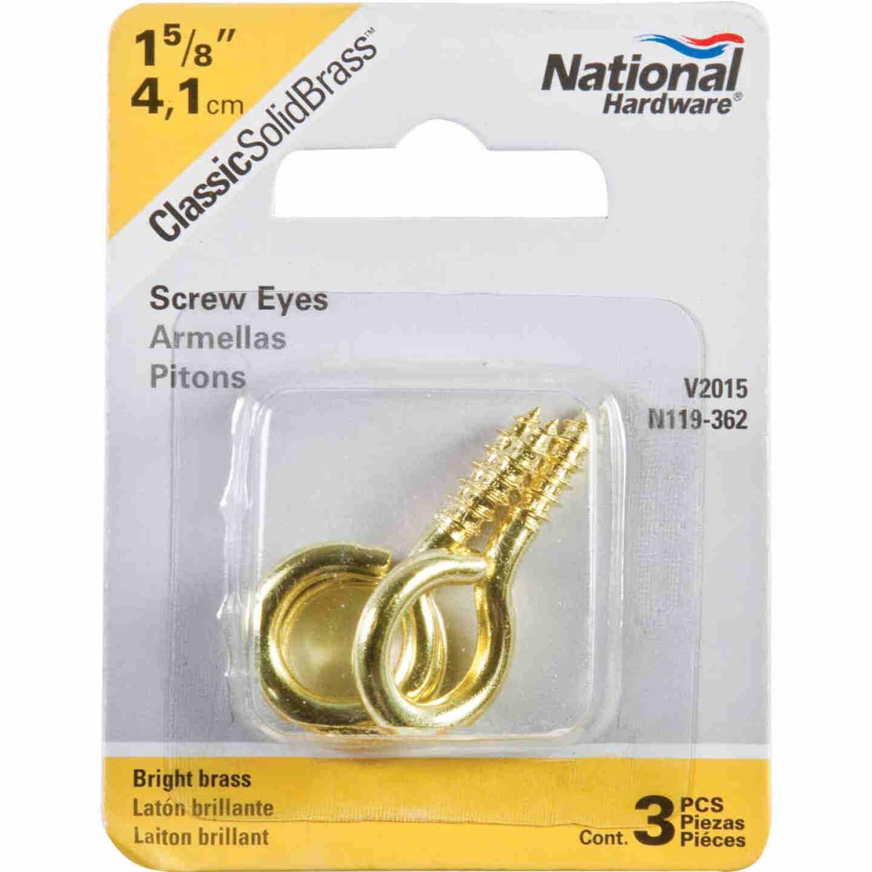 National #8 Brass Large Screw Eye (3 Ct.) Image 2