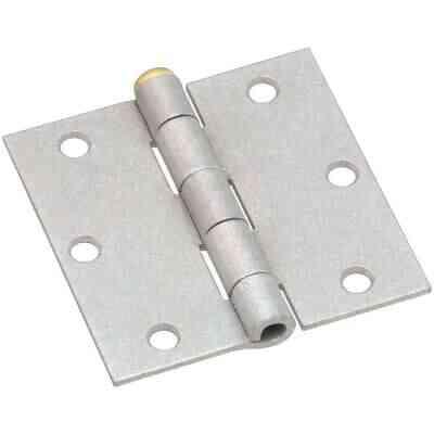 National 3-1/2 In. Square Galvanized Steel Broad Door Hinge (2-Pack)