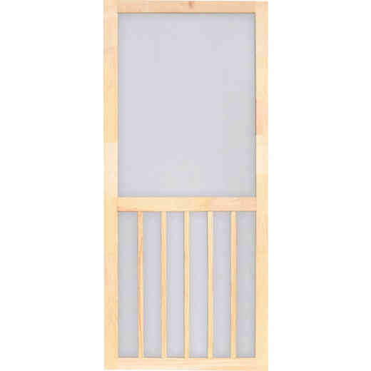 Screen Tight 5-Bar 36 In. W x 80 In. H x 1 In. Thick Natural Wood Screen Door Screen