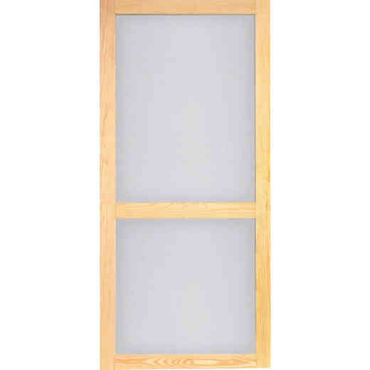 Screen Tight Woodcraft 32 In. W x 80 In. H x 1 In. Thick Natural Wood Screen Door