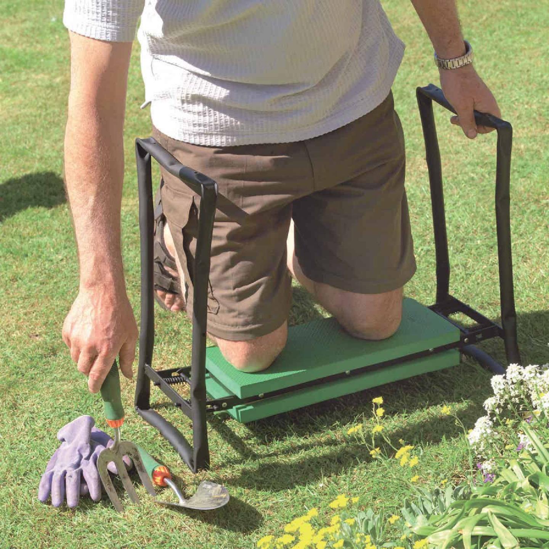 Best Garden Green Foam Pad w/Black Steel Frame Garden Kneeler Bench Image 2