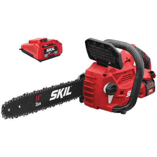 SKIL PWRCore 14 In. 40V Brushless Chainsaw with AutoPWRJump Charger