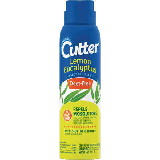 Cutter Lemon Eucalyptus 4 Oz. Insect Repellent Aerosol Spray