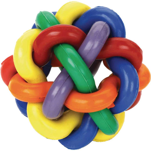 Multipet Nobbly Wobbly 4 In. Ball Dog Toy