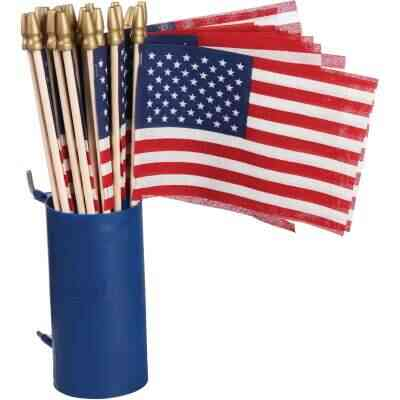 Valley Forge 4 In. x 6 In. Polycotton Stick American Flag