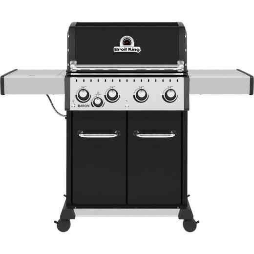 Broil King Baron 440 Pro 4-Burner Black 40,000 BTU LP Gas Grill